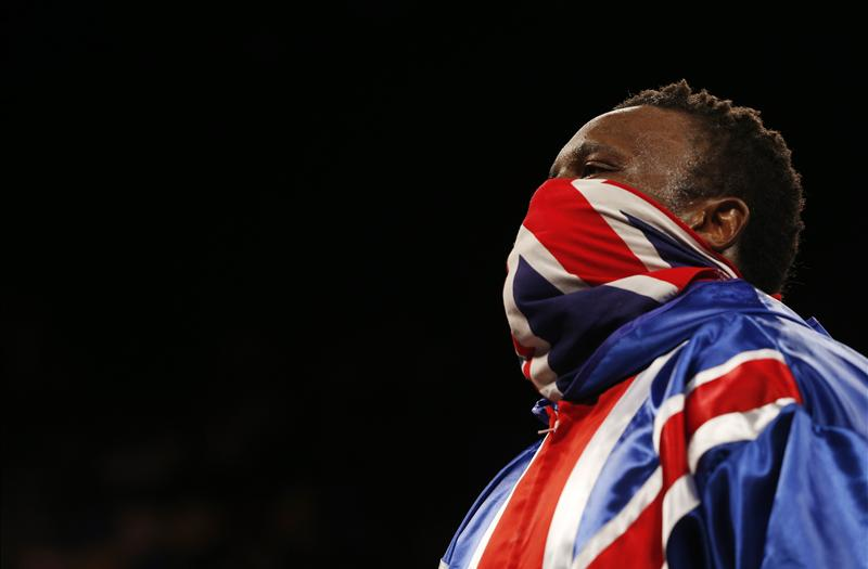 Dereck Chisora in a union jack