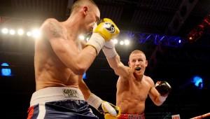 Terry Flanagan throws a punch