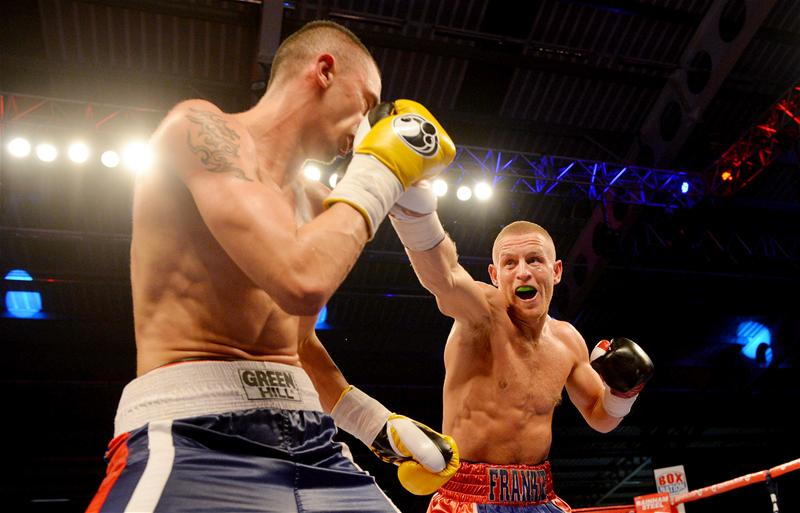 Terry Flanagan throws a punch