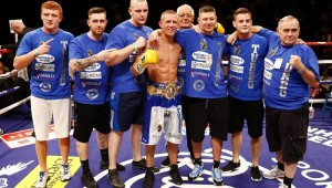 Terry Flanagan with the team