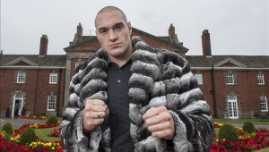 Tyson Fury in a fur coat