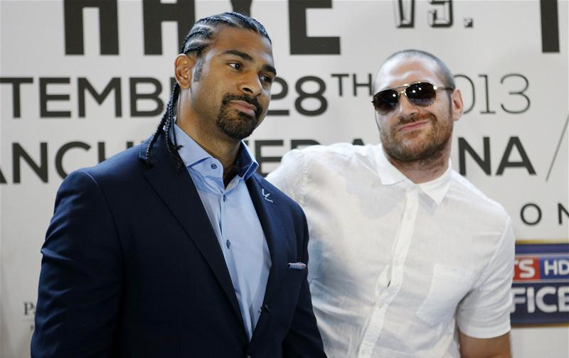 Tyson Fury with David Haye