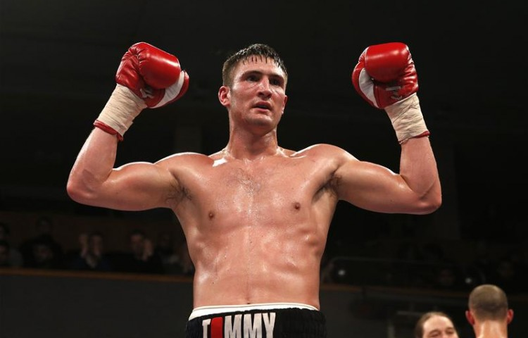 Tommy Langford celebrating