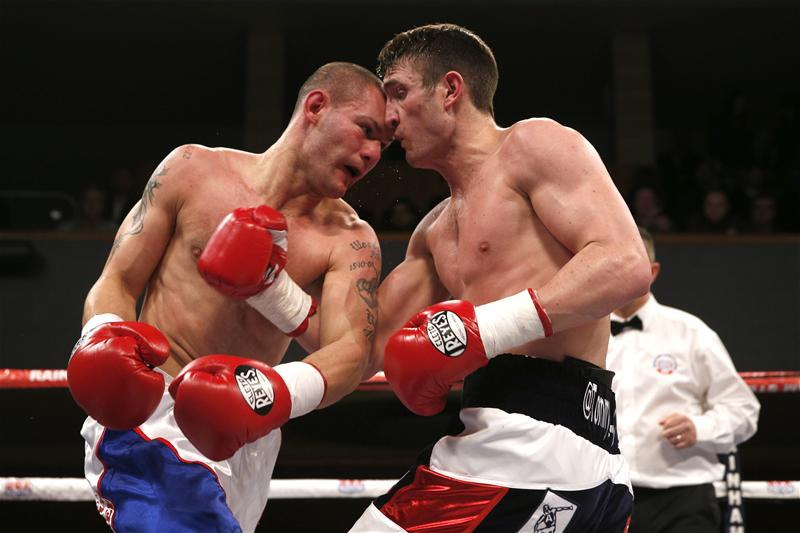 Tommy Langford on the attack