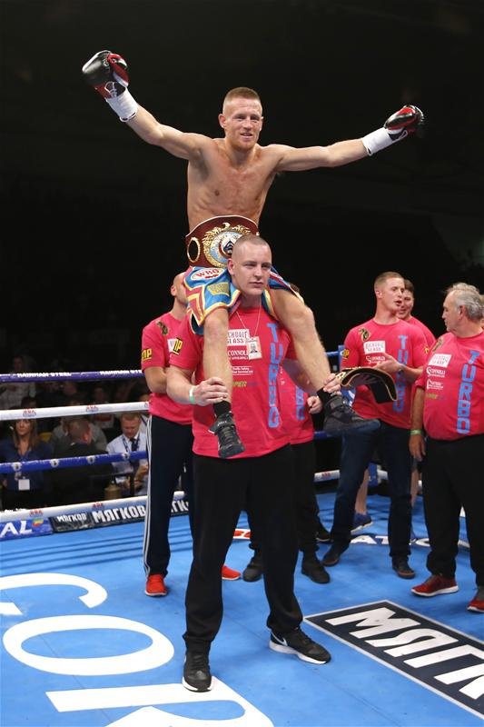 Terry Flanagan celebrates