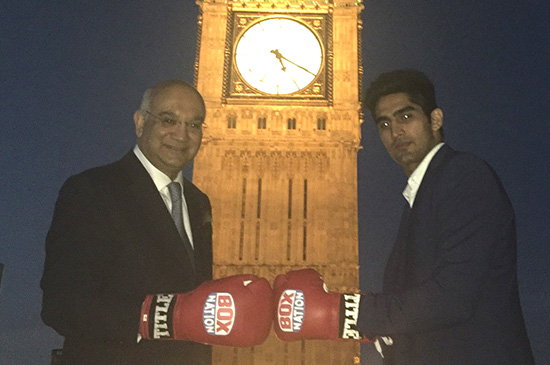 Vijender Singh Meets Political Heavyweight in Parliament