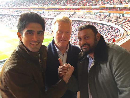 VIjender Singh meets Naseem Hamed