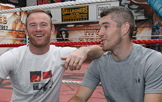 Wayne Rooney and Liam Smith