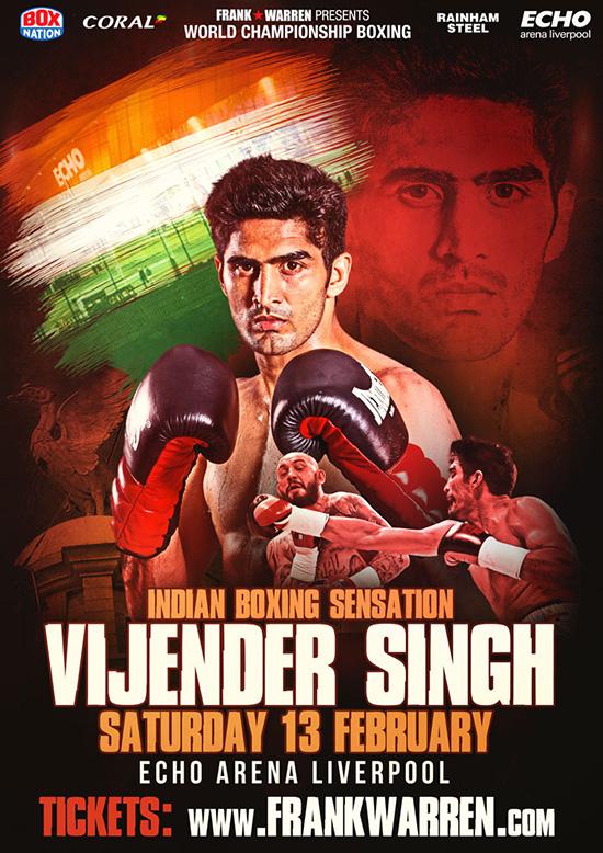 Vijender Singh fights in Liverool