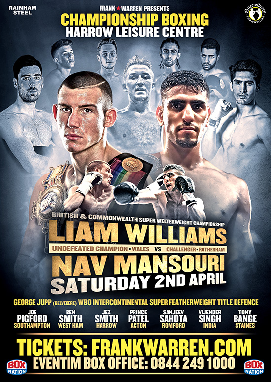 Liam Williams vs Nav Mansouri