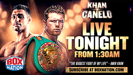 Khan v Canelo Tonight