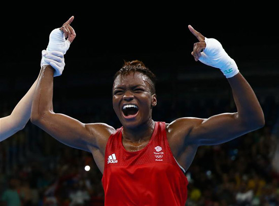 Nicola Adams celebrates