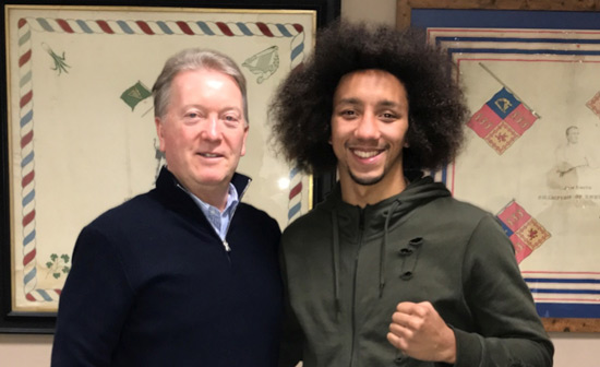 Tyrone Nurse signs with Frank Warren