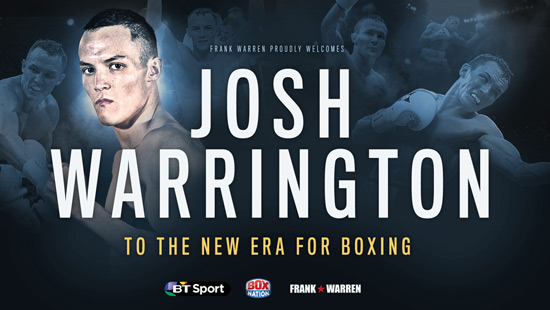 Josh Warrington signs with Frank Warren