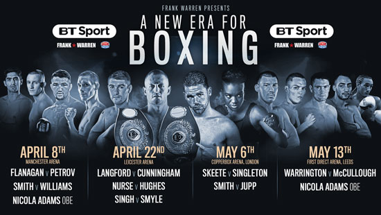 BT Boxing Schedule