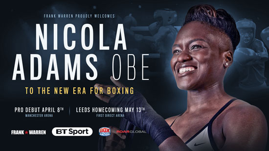 Nicola Adams OBE turns professional