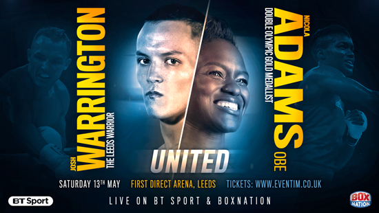 Josh Warrington and Nicola Adams OBE
