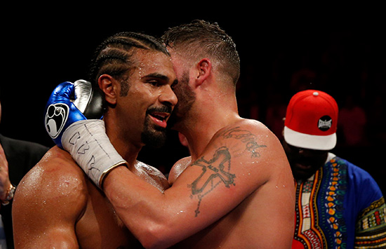 Haye and Bellew embrace