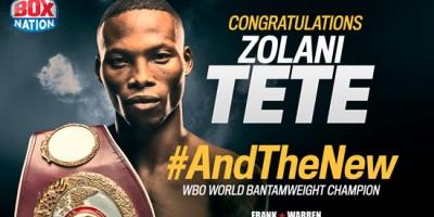 Zolani Tete WBO World Bantamweight Champion