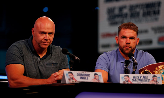 Dominic Ingle and Billy Joe Saunders