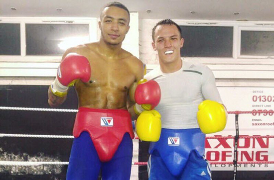 Zelfa Barrett and Josh Warrington