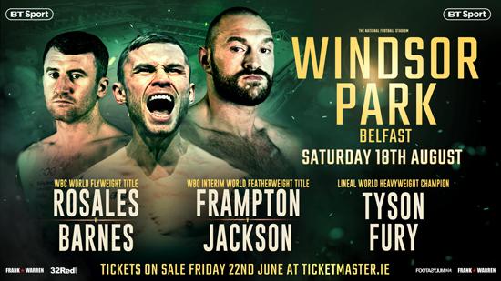 Frampton Fury and Barnes at Windsor Park