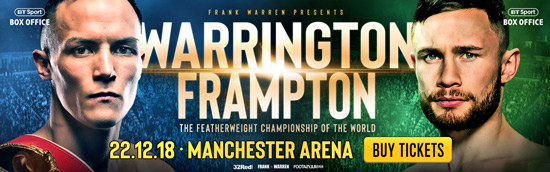 Warrington v Frampton Tickets