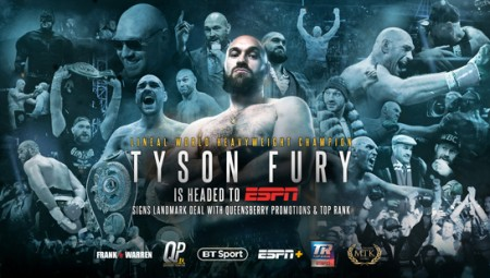 TYSON FURY AND FRANK WARREN'S QUEENSBERRY PROMOTIONS SIGN GROUNDBREAKING DEAL WITH TOP RANK INC.