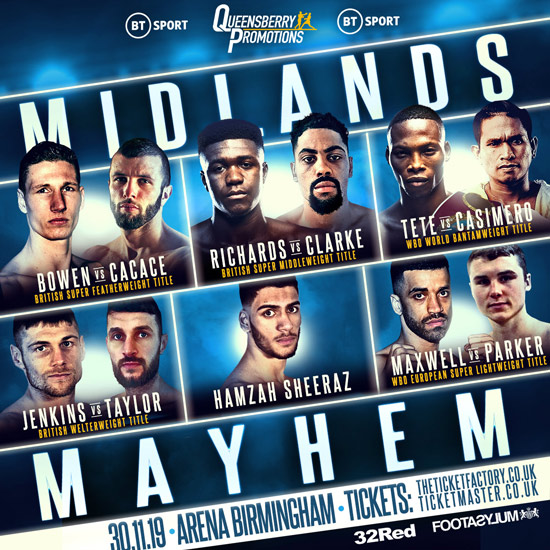 Image result for frank warren midlands mayhem,